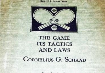 1930 Ping Pong C.G.Schaad presented with PP-Set