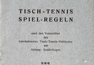 1938 Internationale TT-Spielregeln