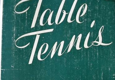 1948 Table Tennis I. Montagu