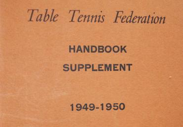 1949 ITTF Handbook Supplement