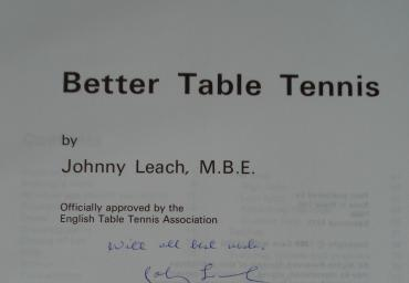 1969 Better Table Tennis  J. Leach with autograph