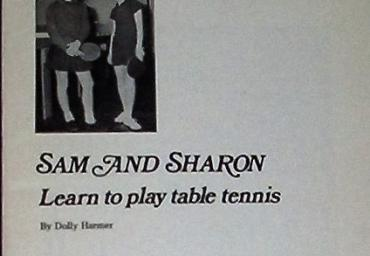 1971 Sam and Sharon learn to play table tennis D. Harmer
