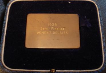 1938 World Championships Semi Finalist Womens Doubles (1)