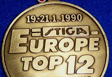 1990 Europe Top 12 medal Hannover