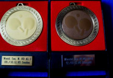 1993 95 Pair of medals from the West German Championships